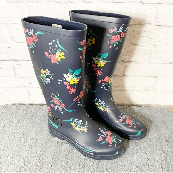 a new day Shoes - Womens A New Day floral rain boot
